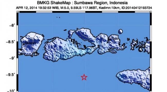 Gempa Berkekuatan 5.7 SR Guncang Daerah Sumbawa