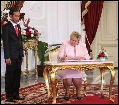 Jokowi dan PM Norwegia Bersama-sama Ingin Melanjutkan REDD+