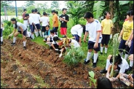 Peringati Hardiknas, Sekolah Tarakanita Peduli Lingkungan
