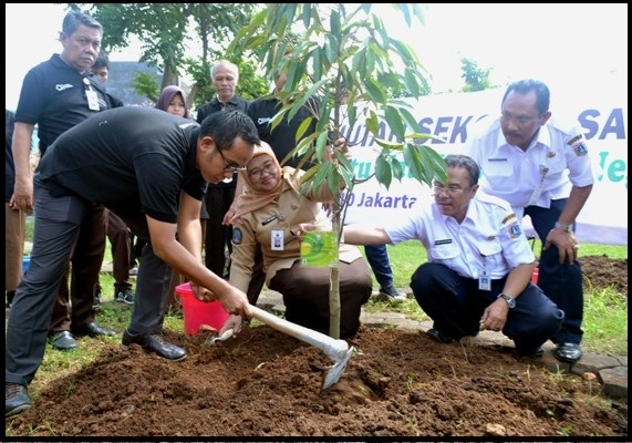 Astra Honda Motor Kembangkan Hutan Sekolah di Jakarta
