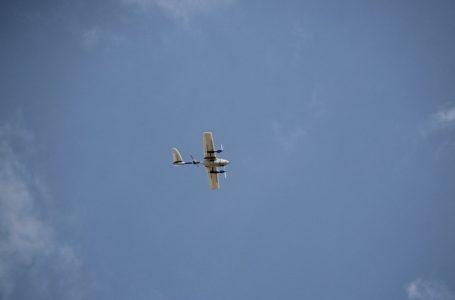 Drone VTOL (Vertical Landing and Take Off) milik Lab. Geospasial & Perubahan Iklim Fak. Pertanian Prodi Kehutanan Muhammadiyah Makassar (Gambar: Istimewa)