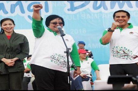 Menteri LHK, Siti Nurbaya Bakar mengungkapkan, dalam waktu dekat, Pemerintah akan mengeluarkan regulasi terkait dengan pengelolaan sampah plastik. (Gambar: Sindo News)