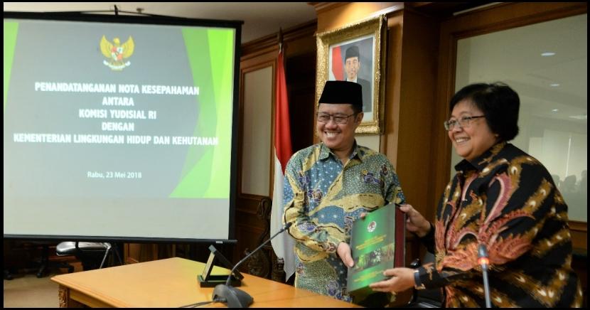 KLHK & Komisi Yudisial Bersama Tegakkan Hukum Lingkungan dan Kehutanan Indonesia