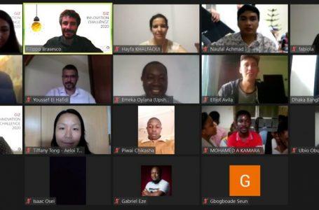 [:en]Pelatihan GIZ Innovation Challenge 2020 via daring/zoom dengan peserta dari berbagai negara (Gambar: Istimewa)[:]