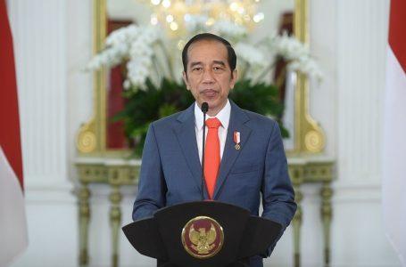 [:en]Presiden Jokowi saat pidato dalam kegiatan Konferensi Tingkat Tinggi Climate Adaptation Summit (KTT CAS) 2021 (Foto: Biro Pers Sekretariat Presiden)[:]